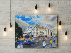 elland road going to the match canvas a3 size